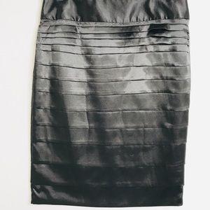 Dalia Collection High Waisted Silk Tiered Skirt 4